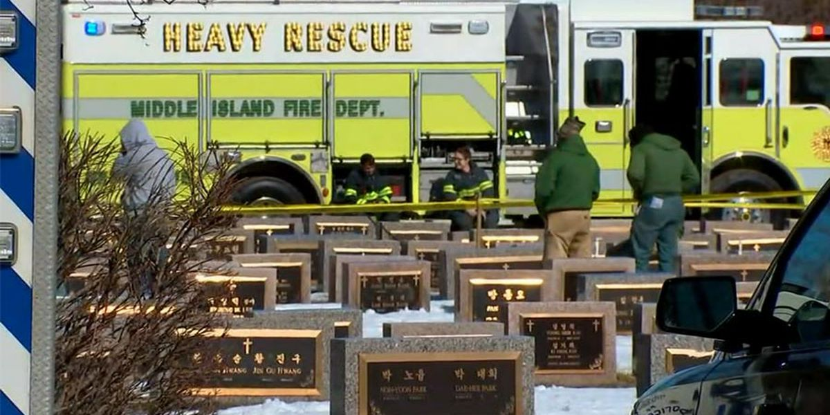 Cemetery worker buried alive in New York grave mishap