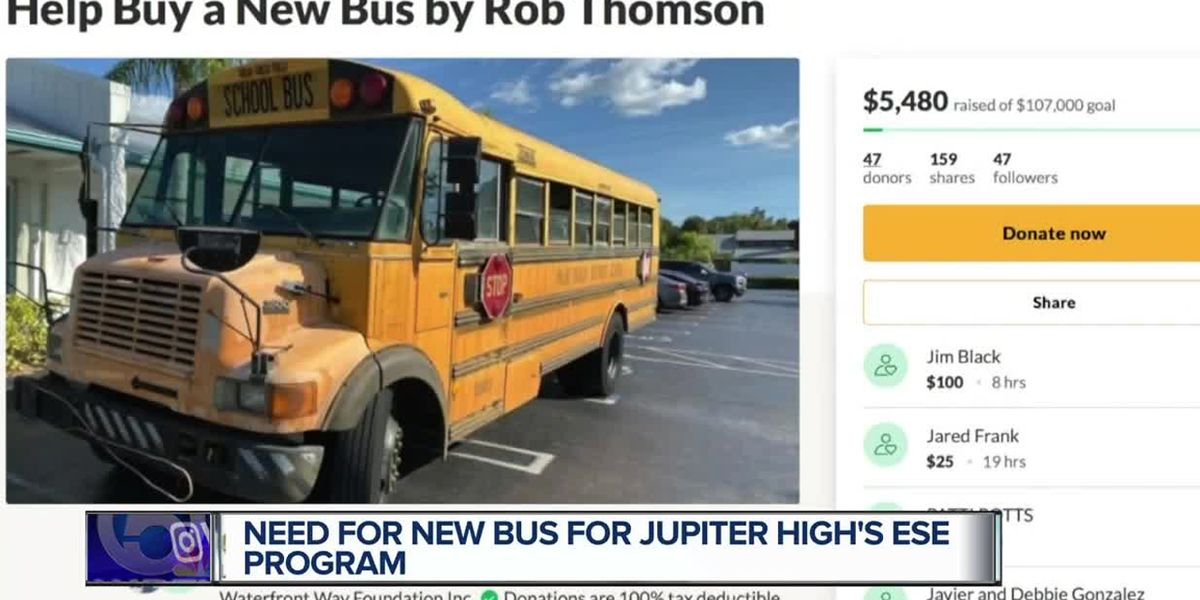 Jupiter dad hopes to raise $107,000 for new school bus