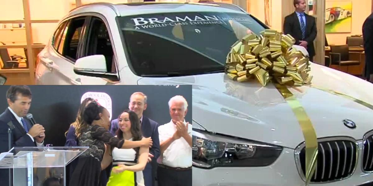 PAYING IT FORWARD: Teacher donates brand new BMW to fellow educator