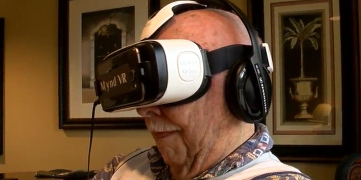 Seniors using VR at PBG community center