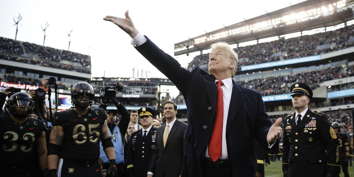 Army beats Navy for 3rd straight time and Trump at game