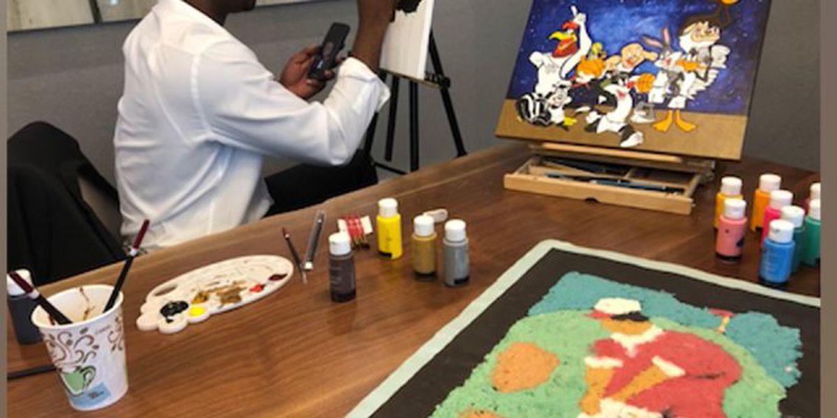 Artist celebrates Black History Month through painting