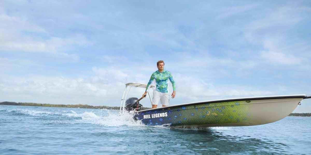 """Win a Reel Legends® Custom-Wrapped Hell's Bay Glades Skiff 18"""" Boat"""