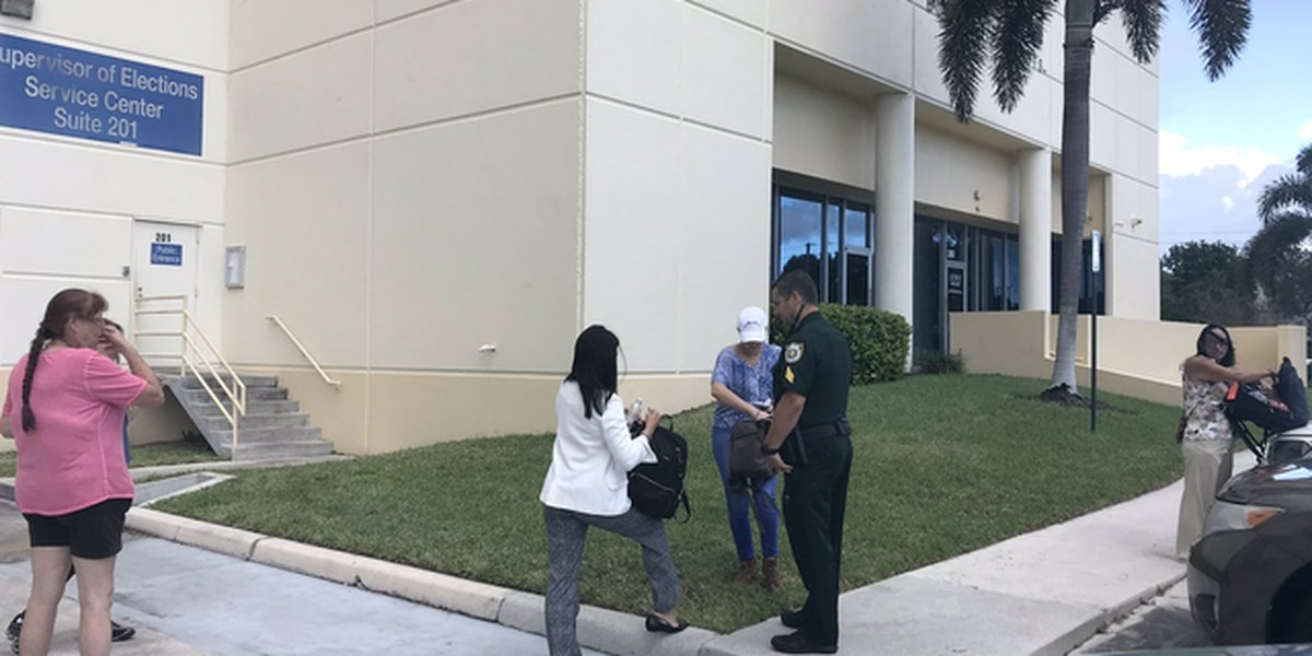 Bags checked at PB County vote recount site
