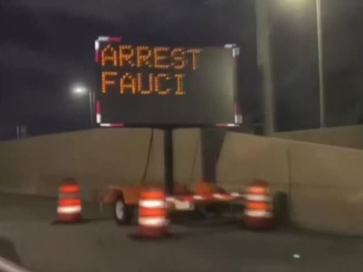Miami road sign hacked to say 'Arrest Fauci'