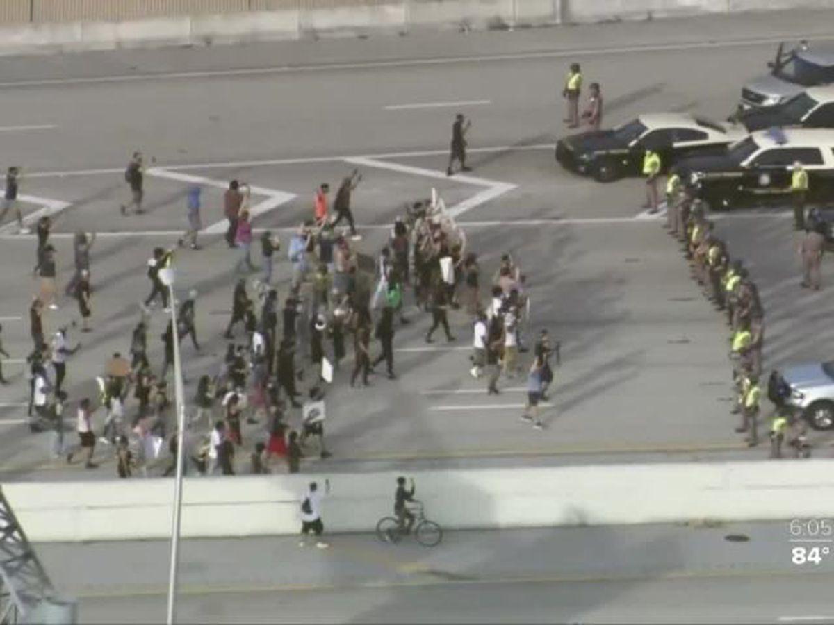 Demonstrators unsettled by legislation to crack down on violent protests