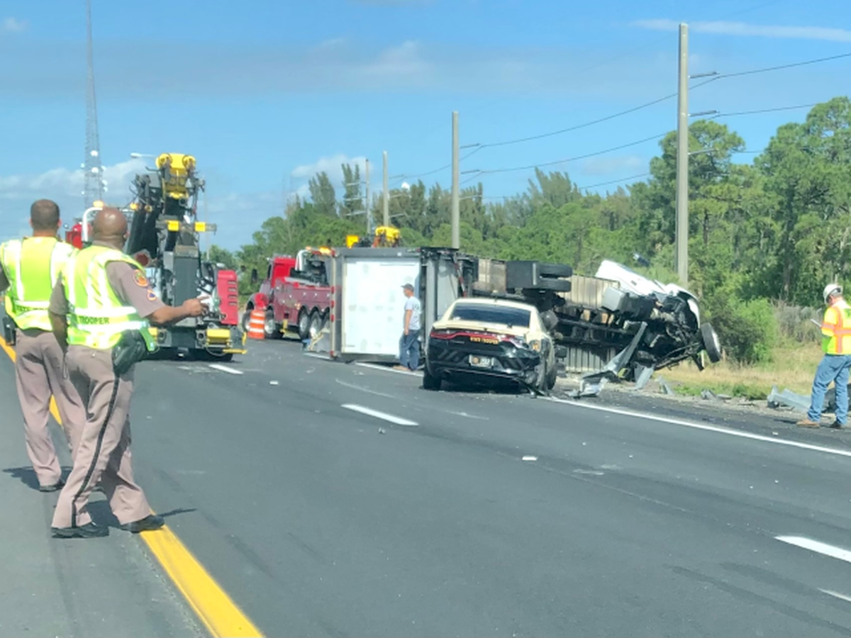 FHP Trooper avoids crash that strikes patrol car