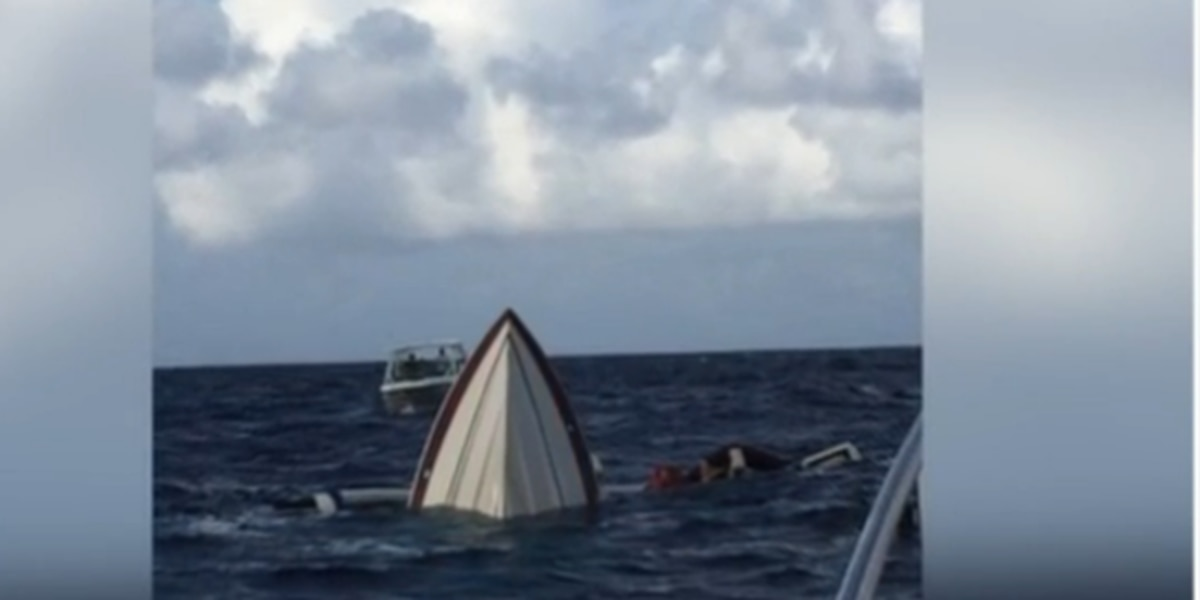 Boaters on sinking boat rescued by couple