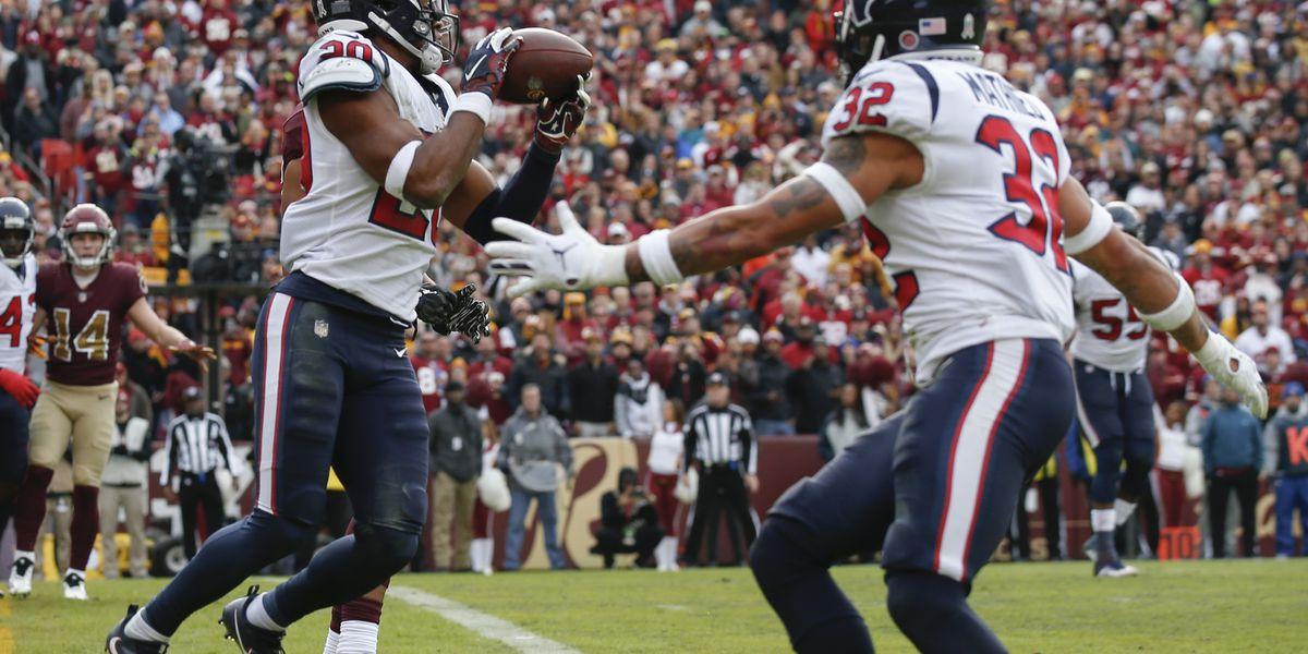 Texans beat Redskins 23-21 to extend winning streak to 7