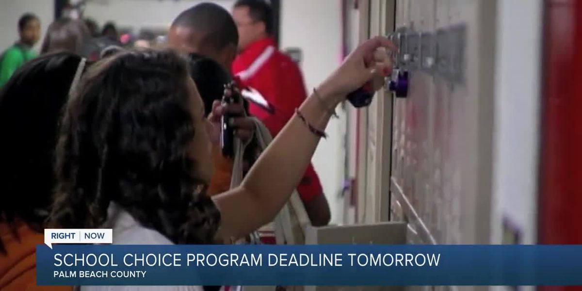 Palm Beach County's Choice Program deadline is Friday
