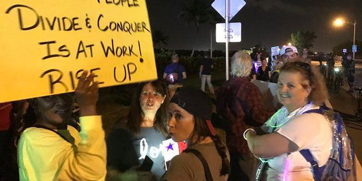 WPB Police: 3,000 march to Trump's Mar-a-Lago
