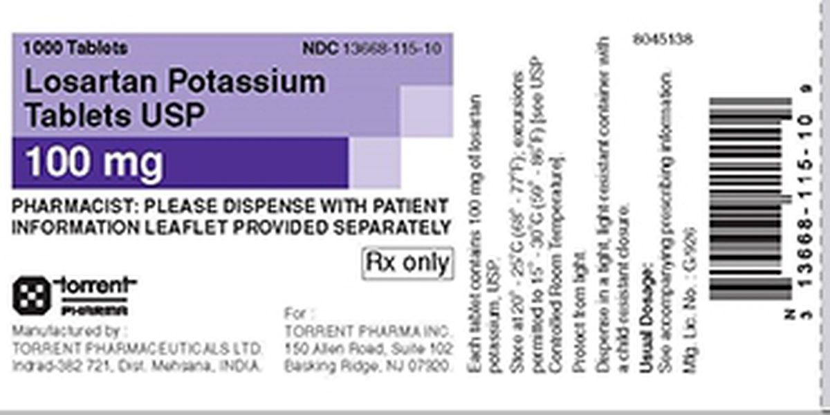 Losartan potassium tablet recall expands from 2 lots to 10