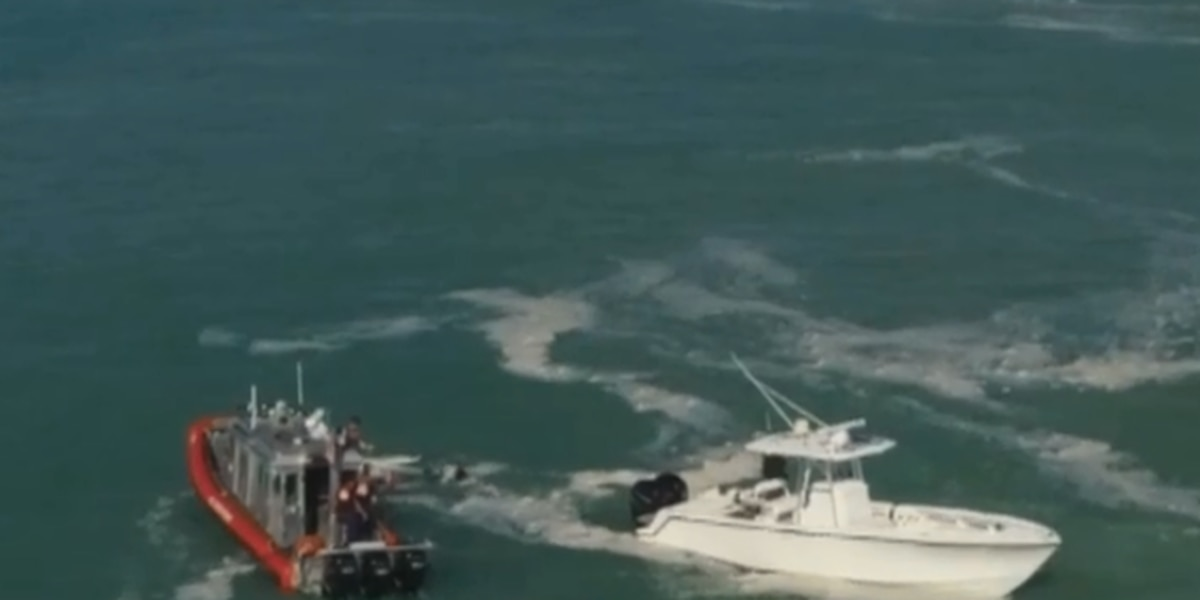Surfers rescue two people in Lake Worth Inlet