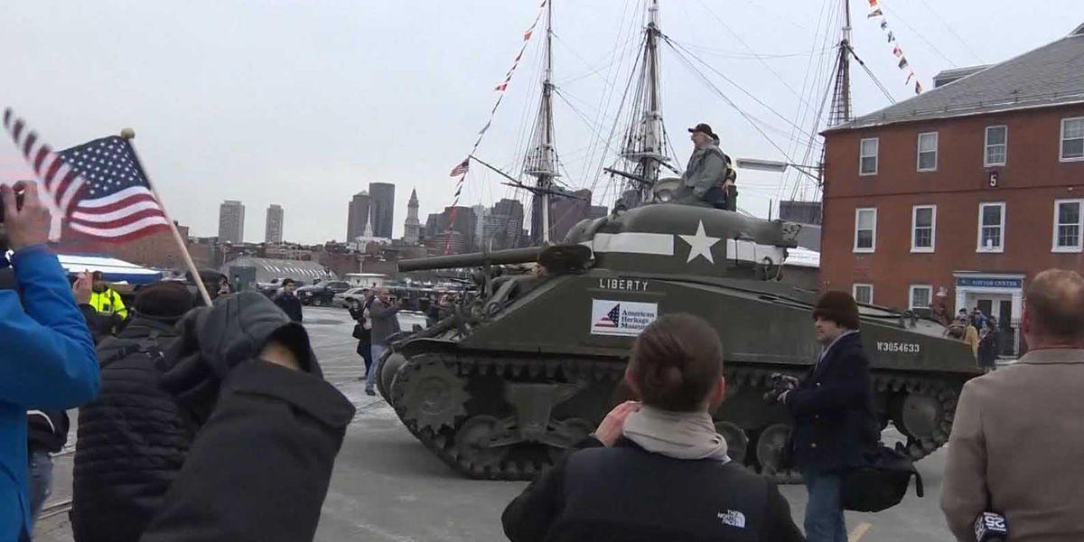 95-year-old WWII tank ace takes nostalgic ride through Boston