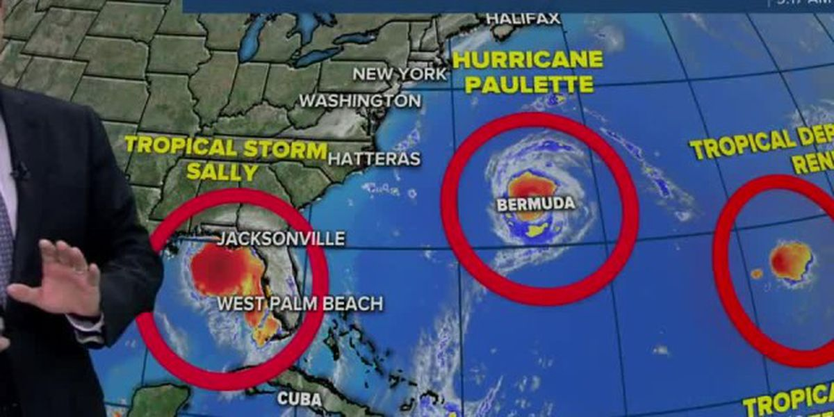 4 named storms spinning in Atlantic Ocean, Gulf of Mexico