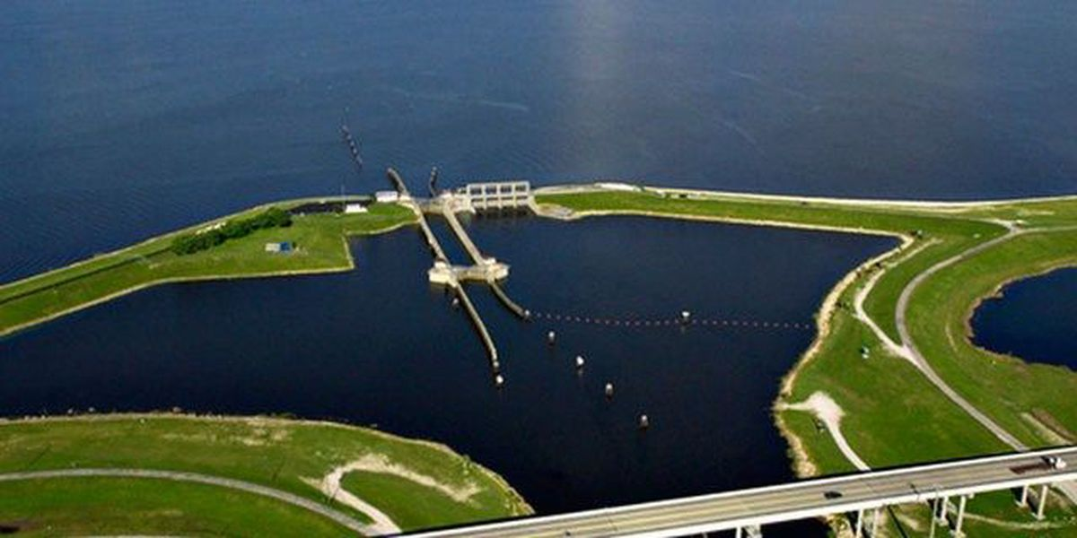 One week after the Lake Okeechobee discharges