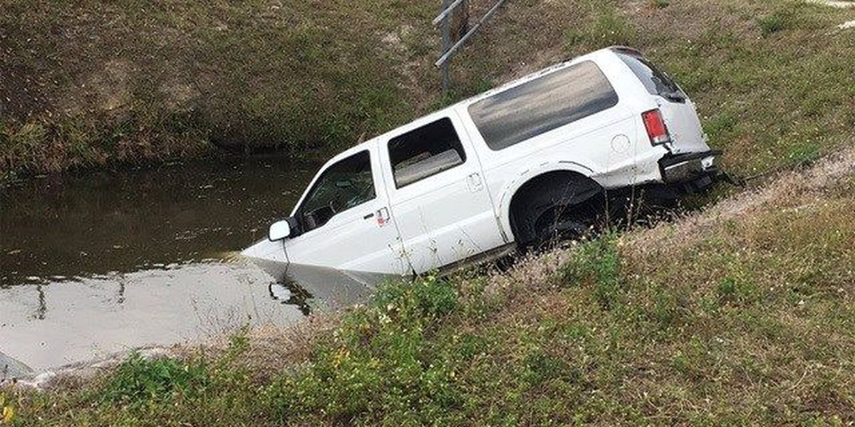 Man rescued from SUV in canal near Lake Worth