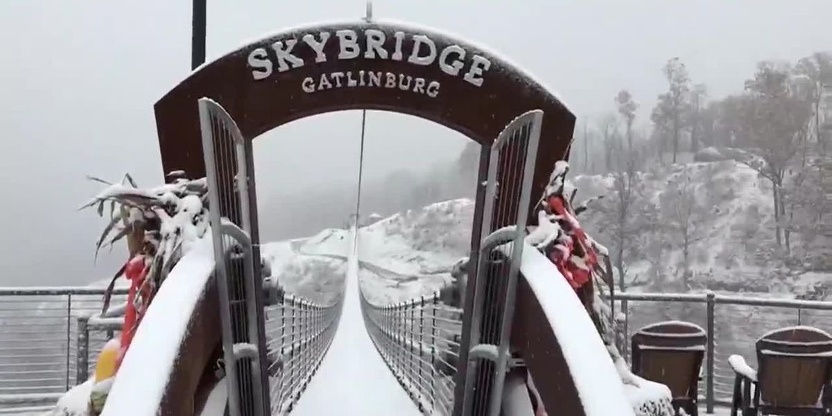You're going to love the snowy view from SkyBridge in Gatlinburg, Tenn.