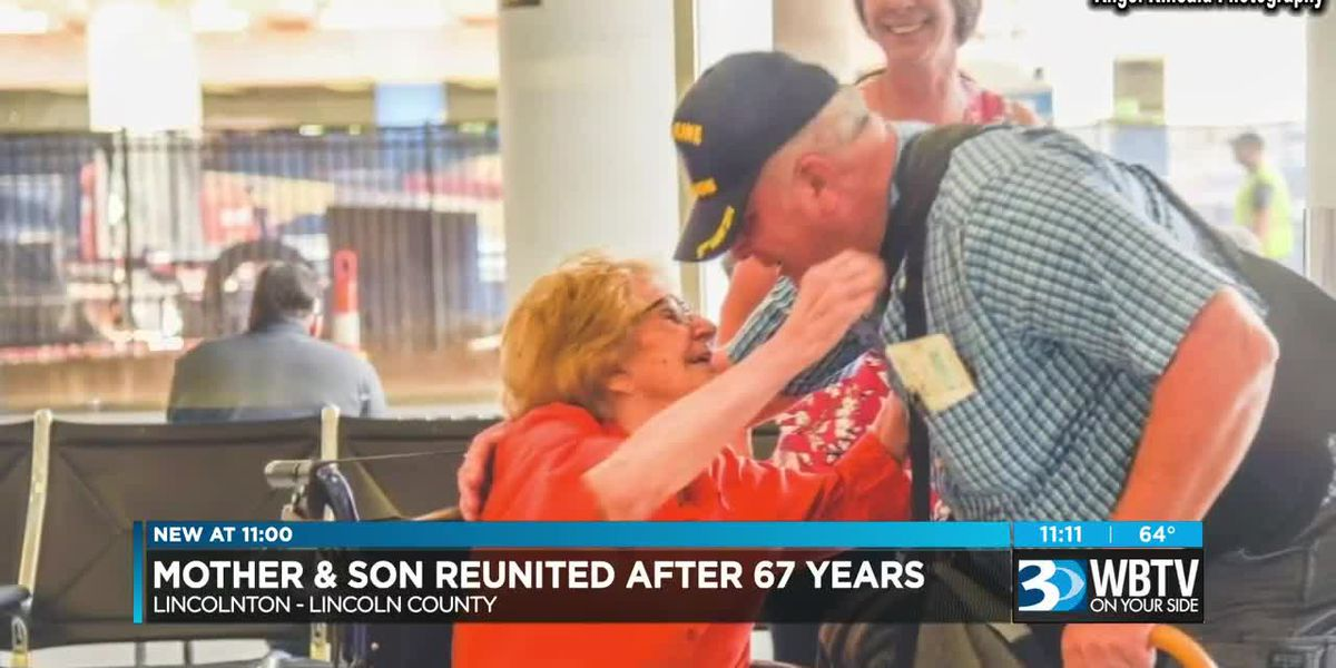 94-year-old NC woman meets son after 67 years of searching