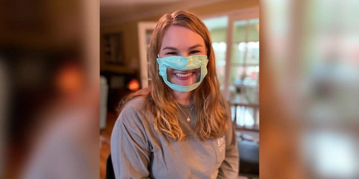 Kentucky college student makes coronavirus masks for deaf community