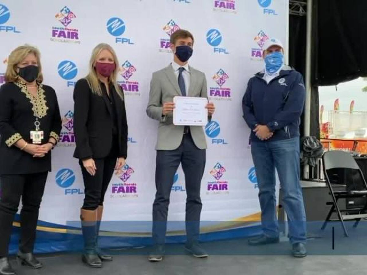 South Florida Fair awards scholarships in West Palm Beach