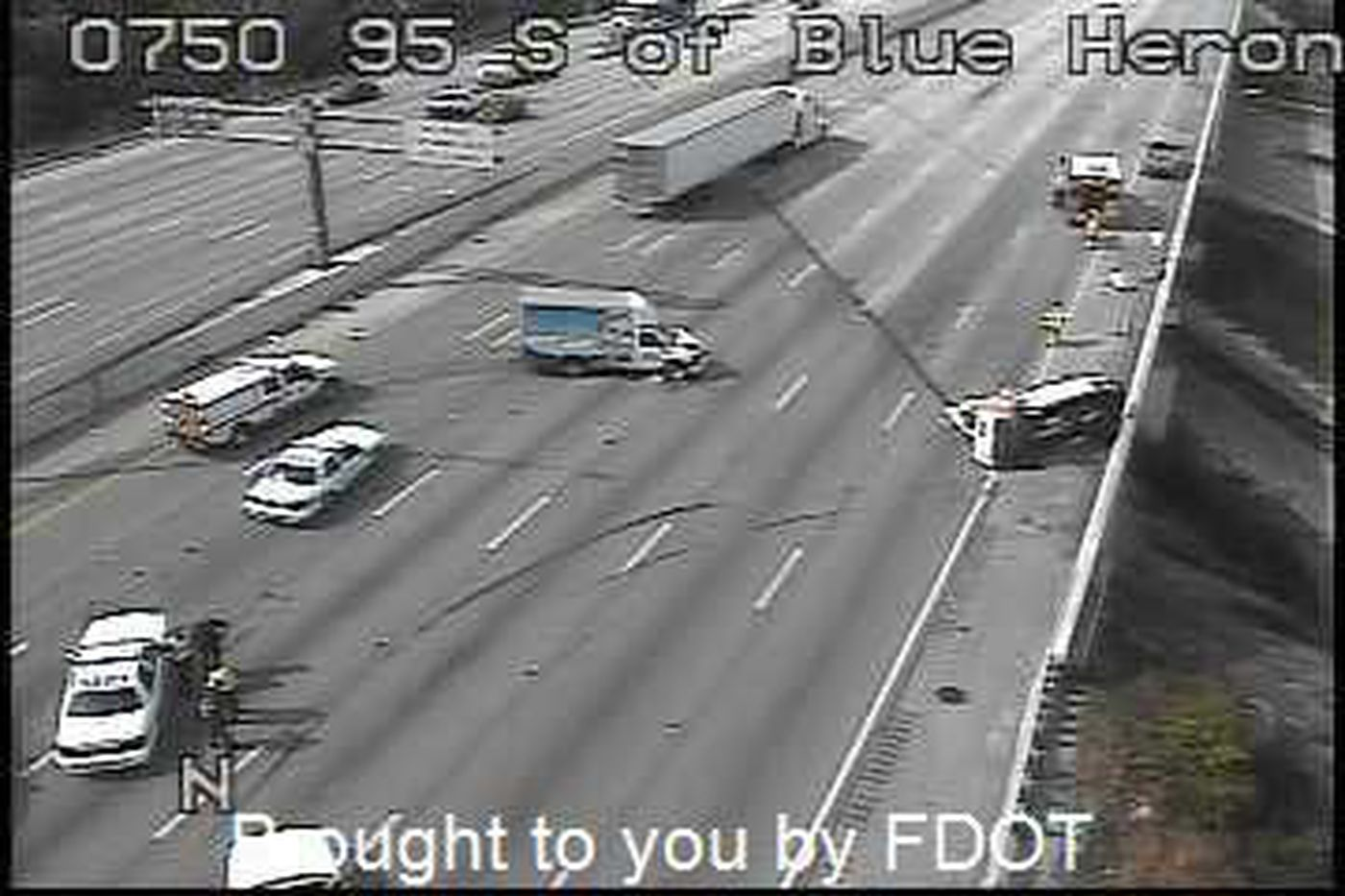 All lanes open on I-95 & 45th St