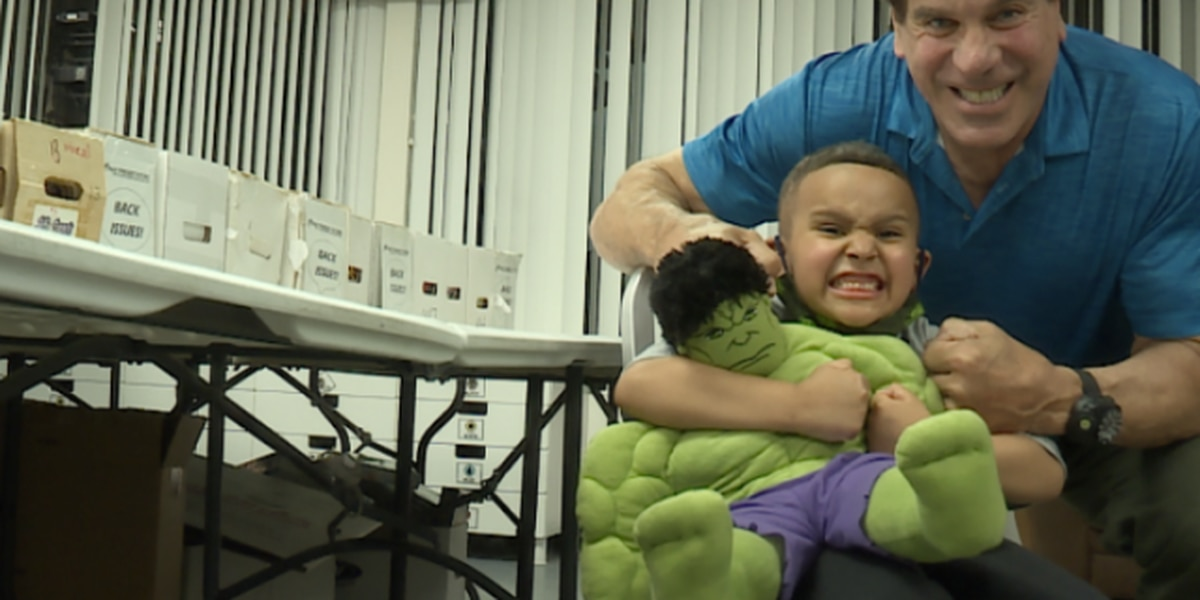 Boy battling brain cancer meets Incredible Hulk