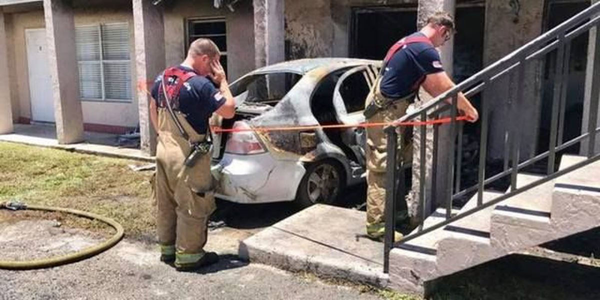 Man who purposely drove into apt complex ID'd