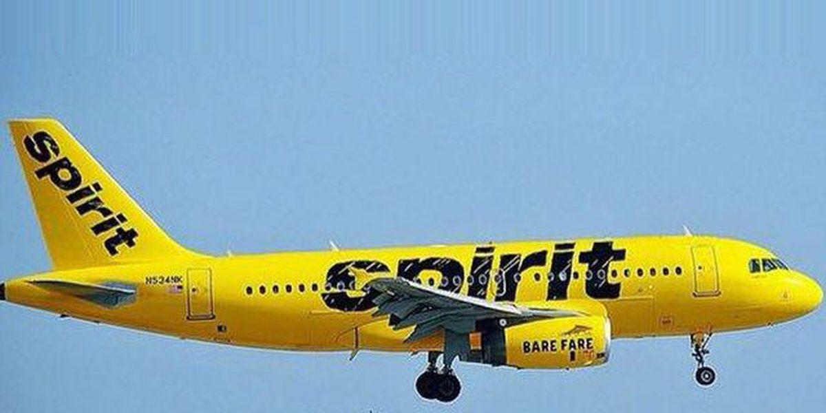 Spirit jet makes emergency landing at PBIA