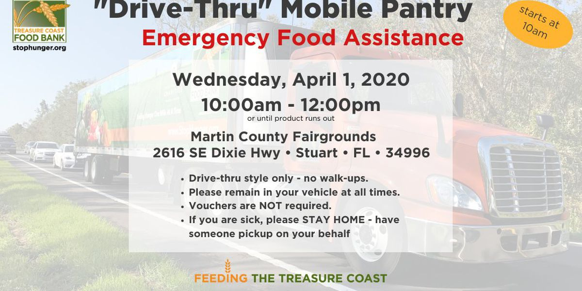 Emergency food distributed Wednesday in Martin County