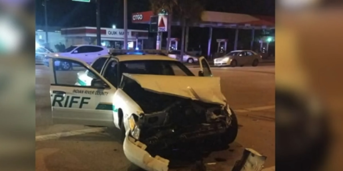 Deputies narrowly avoid serious injuries; one in crash, another pushed into traffic