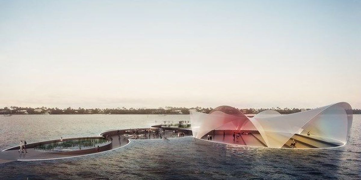 Floating plaza could transform Currie Park