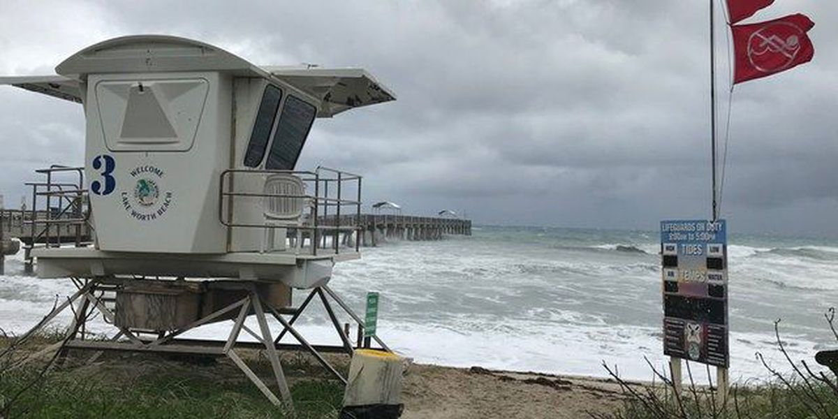 Lake Worth Pier closes due to high winds, surf