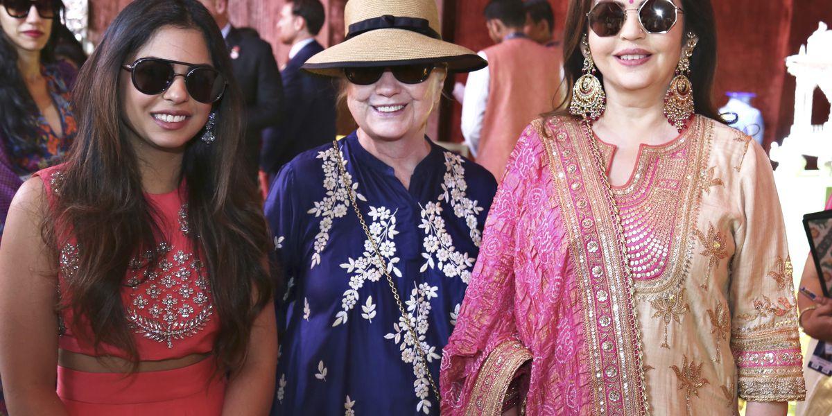 Celebrities flock to Indian business scions' lavish wedding
