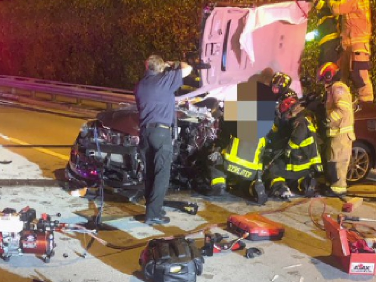 Several people injured in three-vehicle crash in Delray Beach