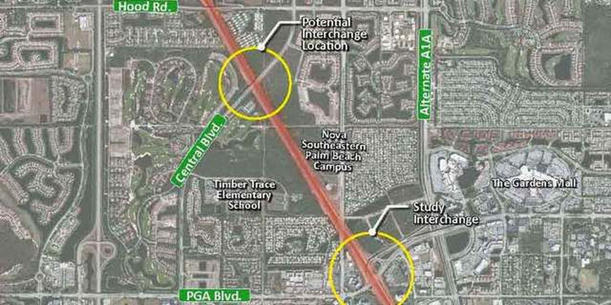 New I-95 Central Boulevard interchange considered to alleviate Palm Beach Gardens traffic